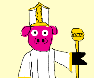 pig is a priest