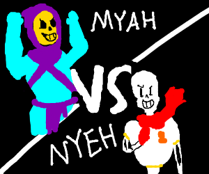 skeletor vs papyrus - 300×250