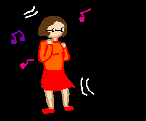 velma is dancing
