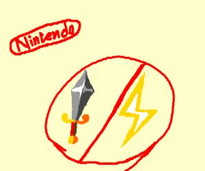 Nintendo no sword lightning