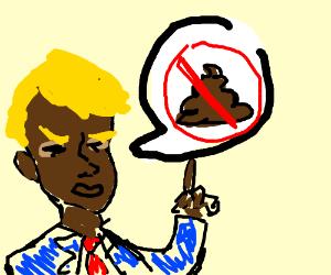 Black Trump comes out against poop.