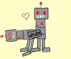 homosexual robots pixel-censored