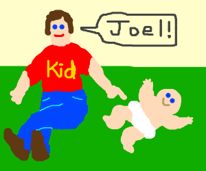Kid and his new baby brother, Joel.
