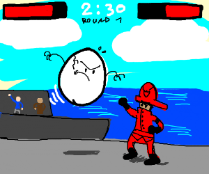 fire man vs egg the fighting game