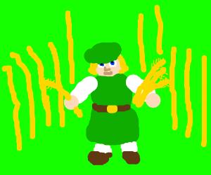Kawaii little peasant green-thing