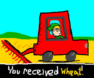 Link collects wheat