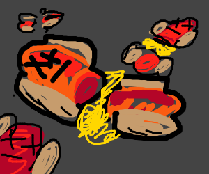 slaughtered hot dogs