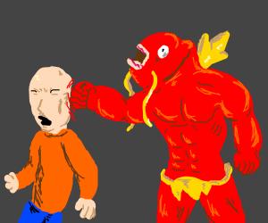 Magikarp beats orange shirt dude in fight