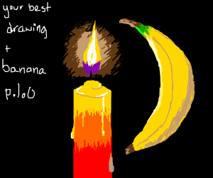 UrBest drawing + a banana! Put PIO in drawing!