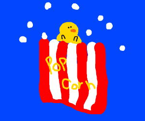 Baby chick popcorn
