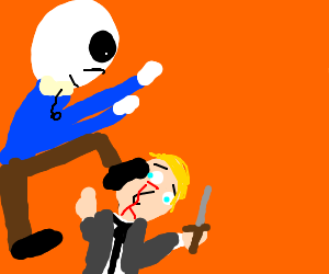 Sans wins because he flipped heads