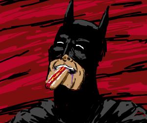BATMAN DEMOLISHES HOTDOG
