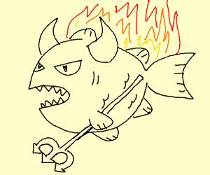 The demon fish burns