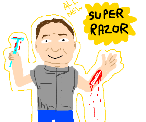 New Super Razor can remove your pesky skin!