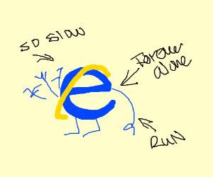Internet Explorer waves at you.