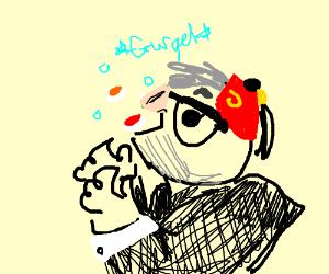 grandpa gurping sushi