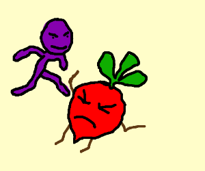 Purple Man VS Beet Man!