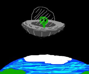 Alien in a UFO