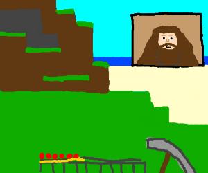 Hagrid plays minecraft