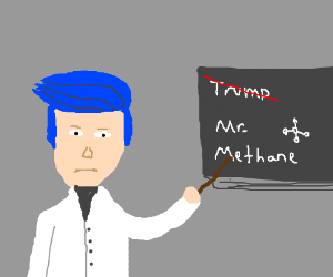 "Trump dyes & and becomes chemist; ""Mr Methane"""