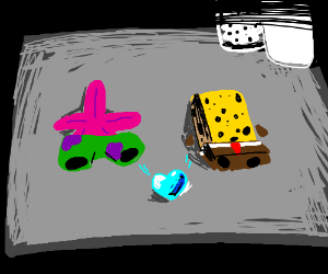 Spongebob and patrick dried up