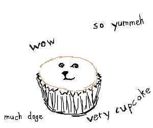 Doge Cupcake