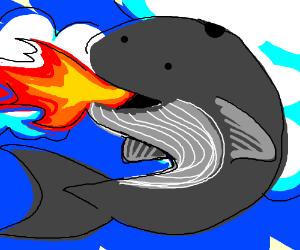 Fire-breathing sky whale