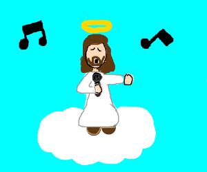 Resultado de imagen para jesus singing karaoke