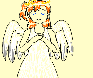 Anime angel girl.