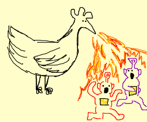 Chicken killing the teletubbies