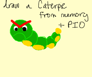 Draw a caterpie from memory PIO