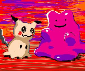 Mimikyu meets Ditto