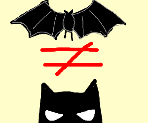 Batman and Bat are not the same