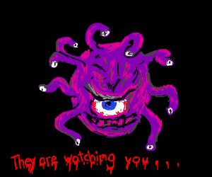 A Beholder  (Fantasy monster)