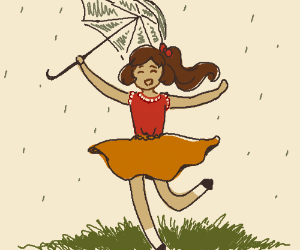 Dancing in the rain... with umbrella