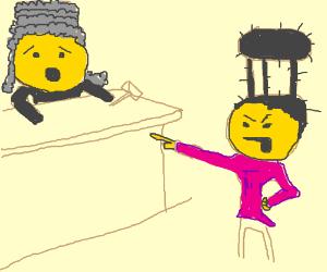 stool-hair man blames alarmed judge
