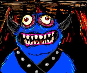 Cookie-monster-like devil