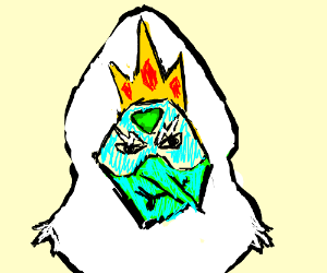 Peridot fused with Ice King
