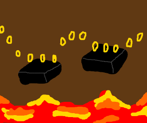 The lava level in a 3D platforming game
