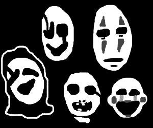 Uboa, Gaster, White Face, No-Face & Puppet