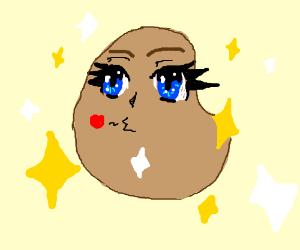 cute anime potato