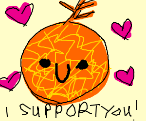 Orange cantelope supports you