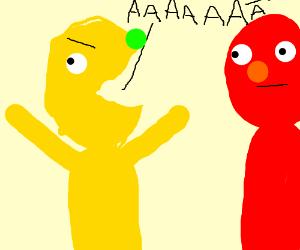 Yellmo, Elmo's weird cousin.