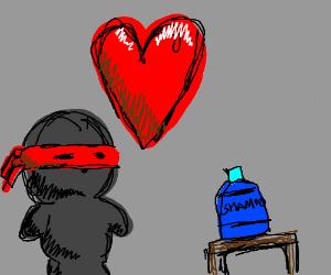 A ninja wants shampoo so badly