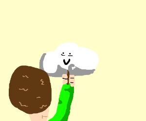 a happy little cloud