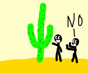 cloud shoving a cactus up him