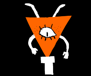 A ginger upside down triangle