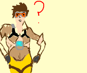 tracer from overwatch is hella confused