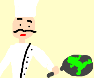 french guy cooks frog
