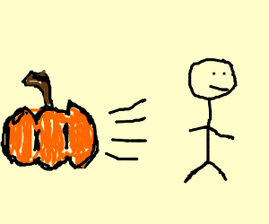 Guy's pumpkins run away and he doesn't know.